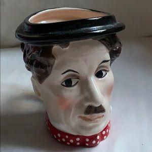 "4"" 1990 Hamilton Gifts Charlie Chaplin Ceramic Cup"